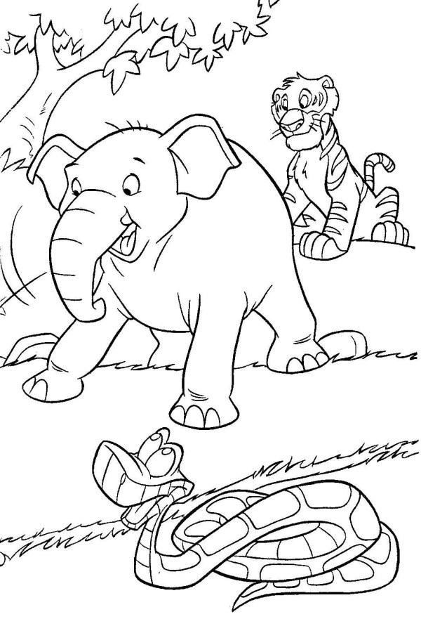 jungle coloring page # 18