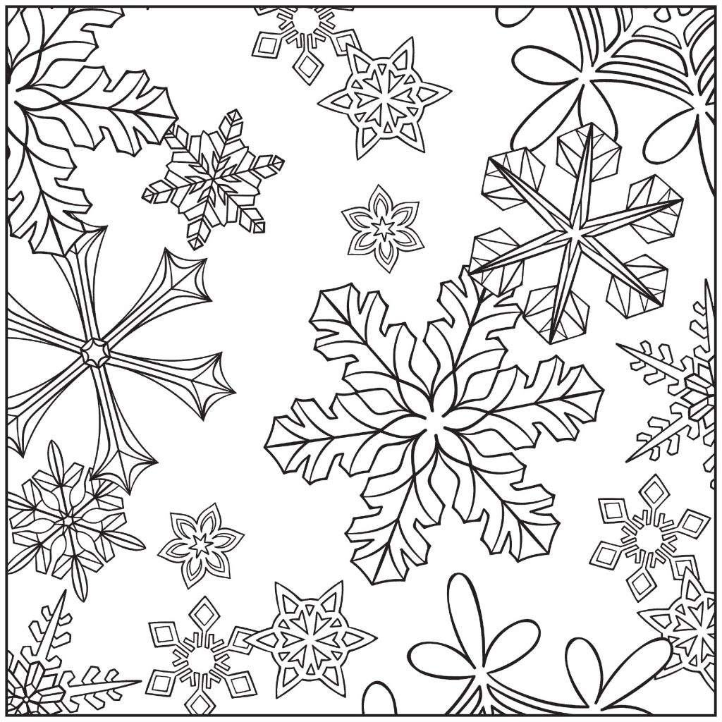Winter Coloring Pages For Adults