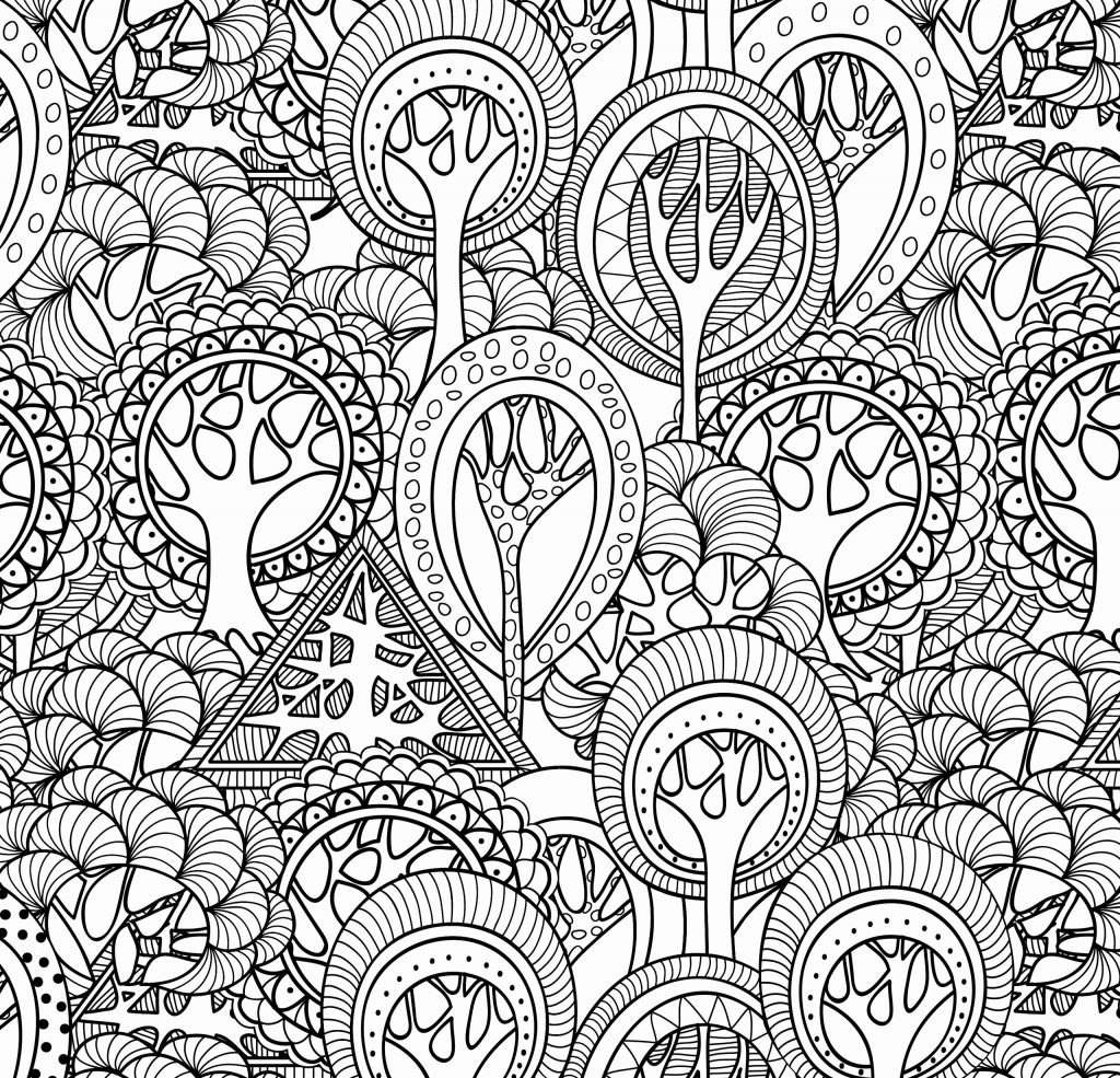 Complex Coloring Pages For Teens And Adults