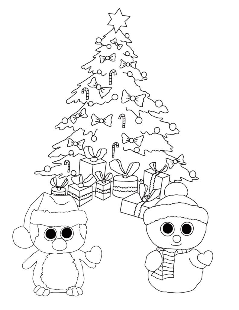 Christmas Coloring Pages for Preschoolers - Best Coloring ... | christmas colouring pages