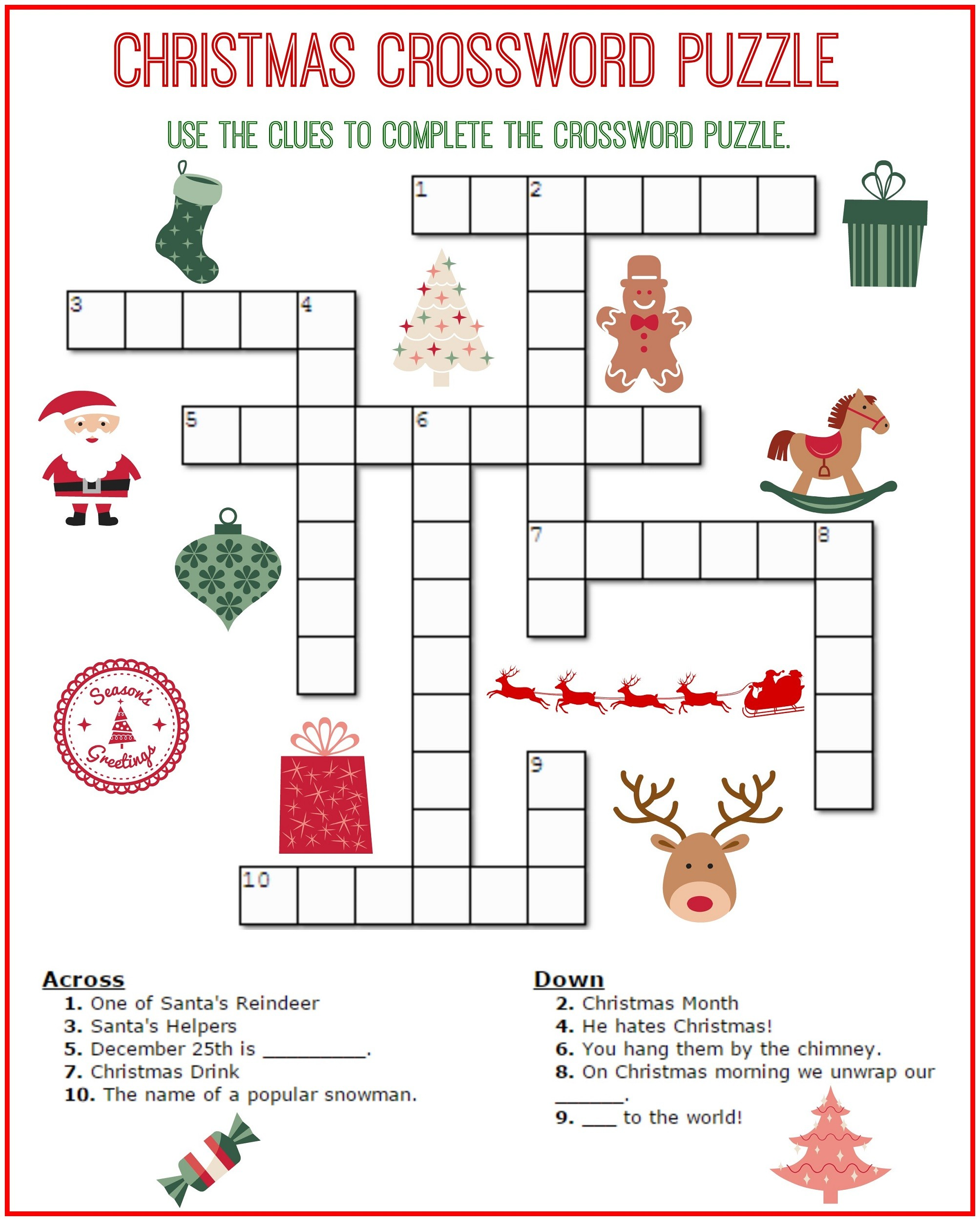 Crossword Puzzles For Kids