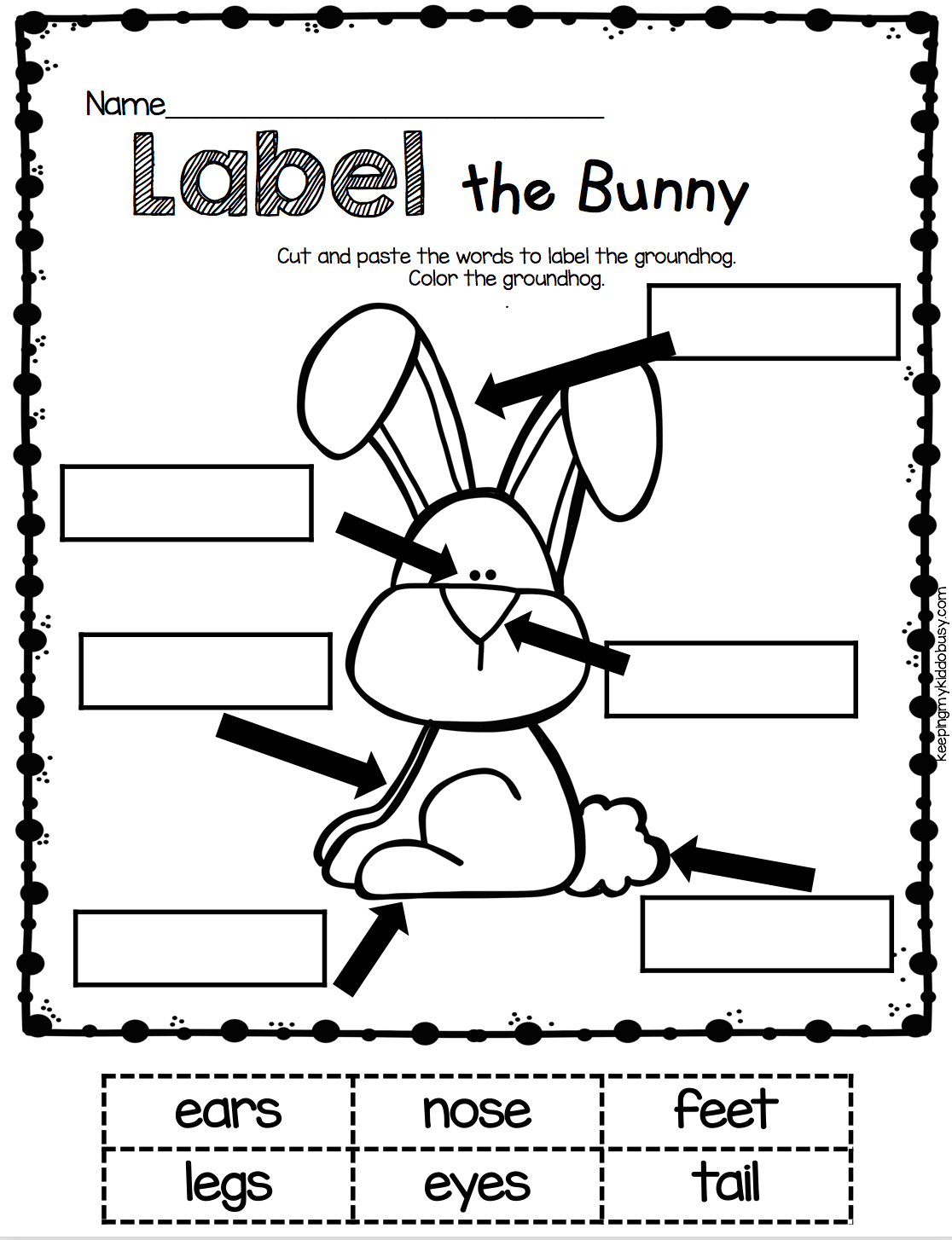 Rabbits Fact Family Worksheet For Kindergarten