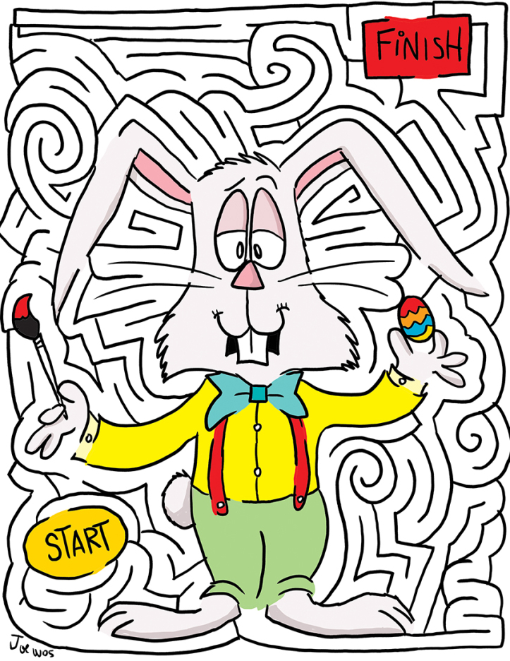 Easter Mazes Best Coloring Pages For Kids