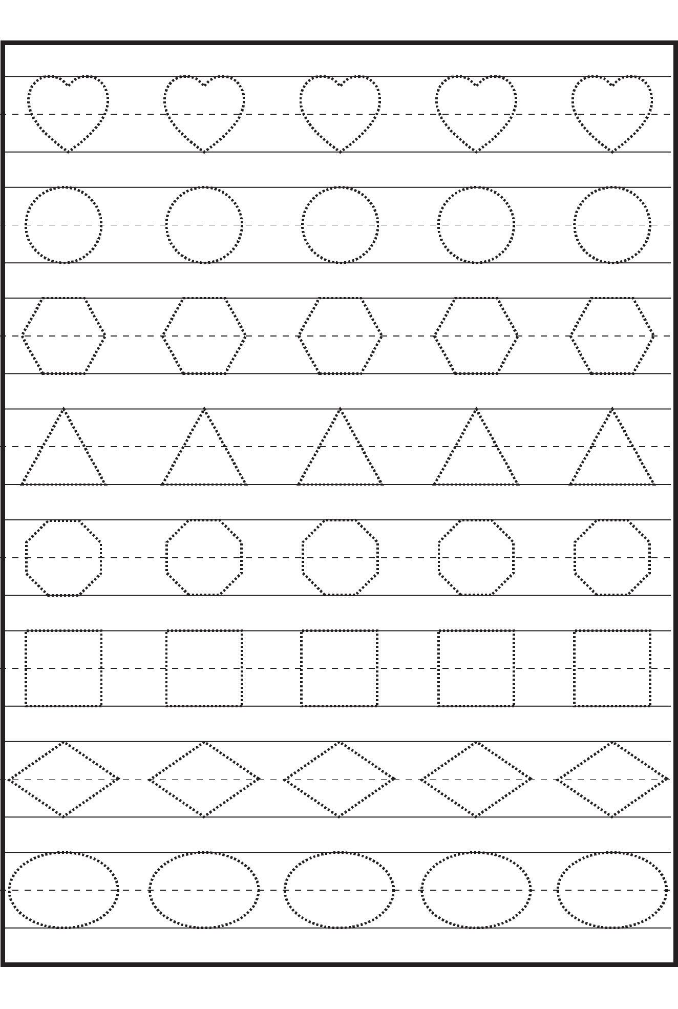 3 Year Old Tracing Worksheets