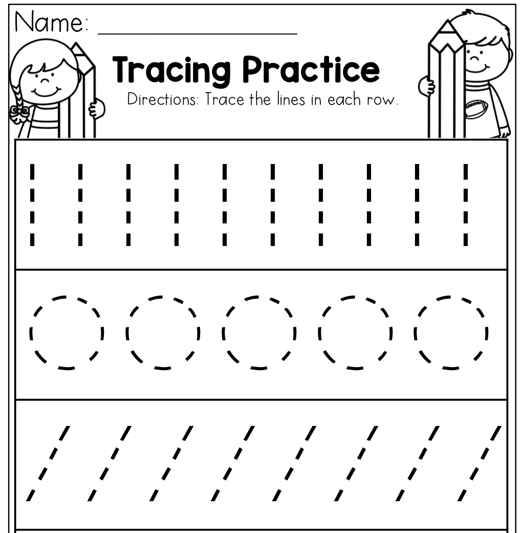 Preschool Division Worksheet