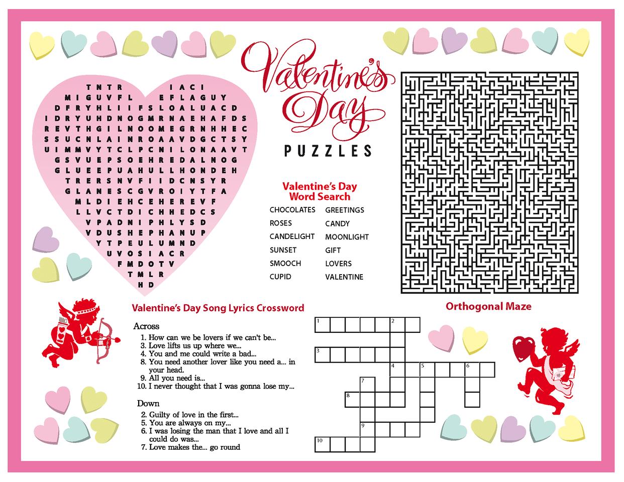 Valentine Puzzle Worksheet