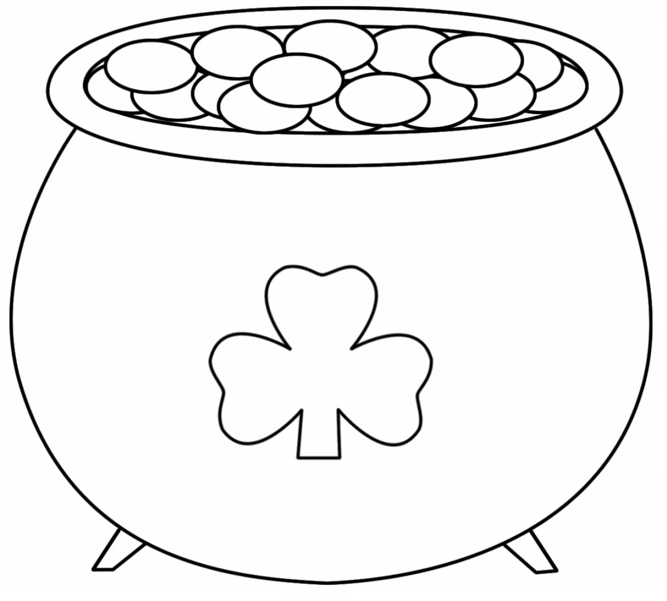 Pot Of Gold Coloring Pages Best Coloring Pages For Kids