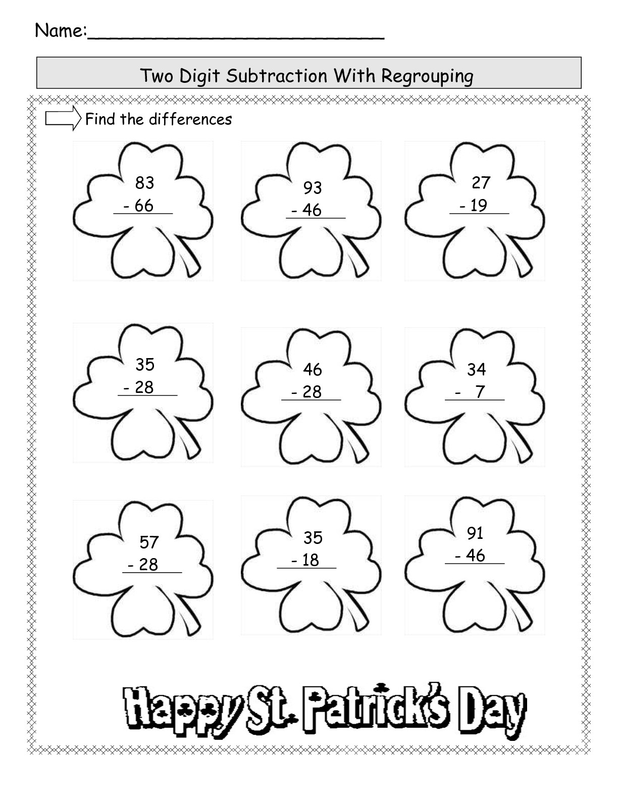 St Patrick S Day Worksheet Pages