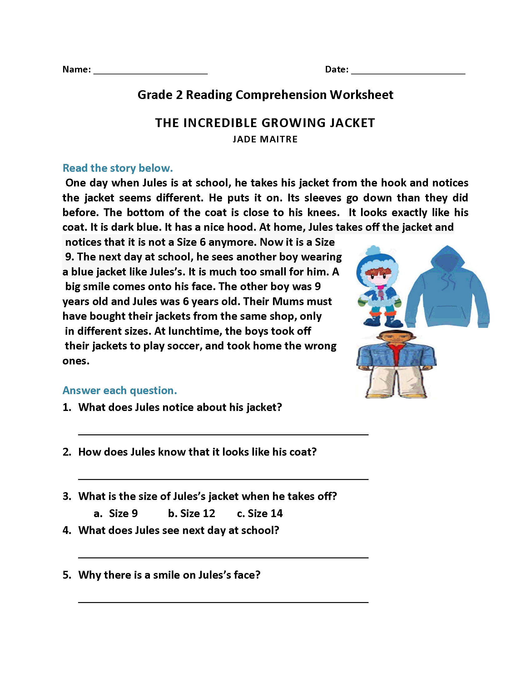 R Reading Comprehension Worksheets 2nd Grade