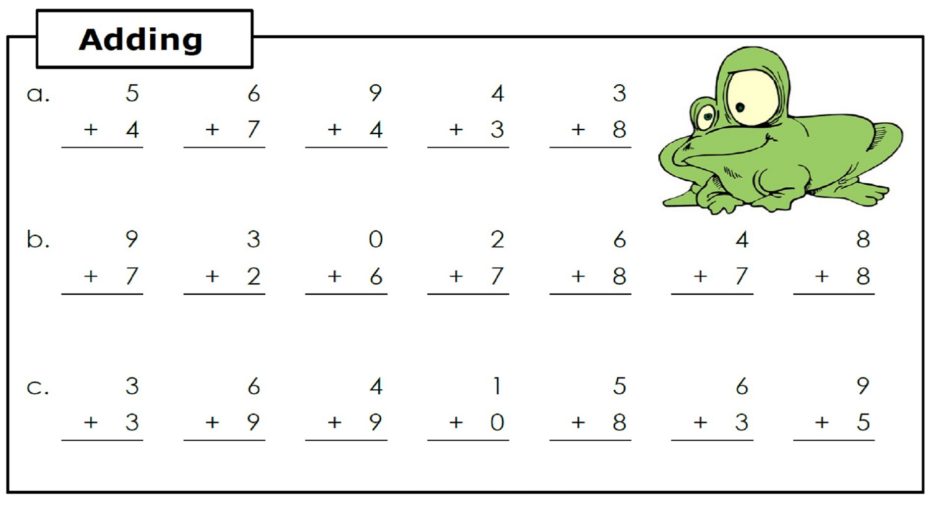 Adding 1st Grade Math Worksheets With