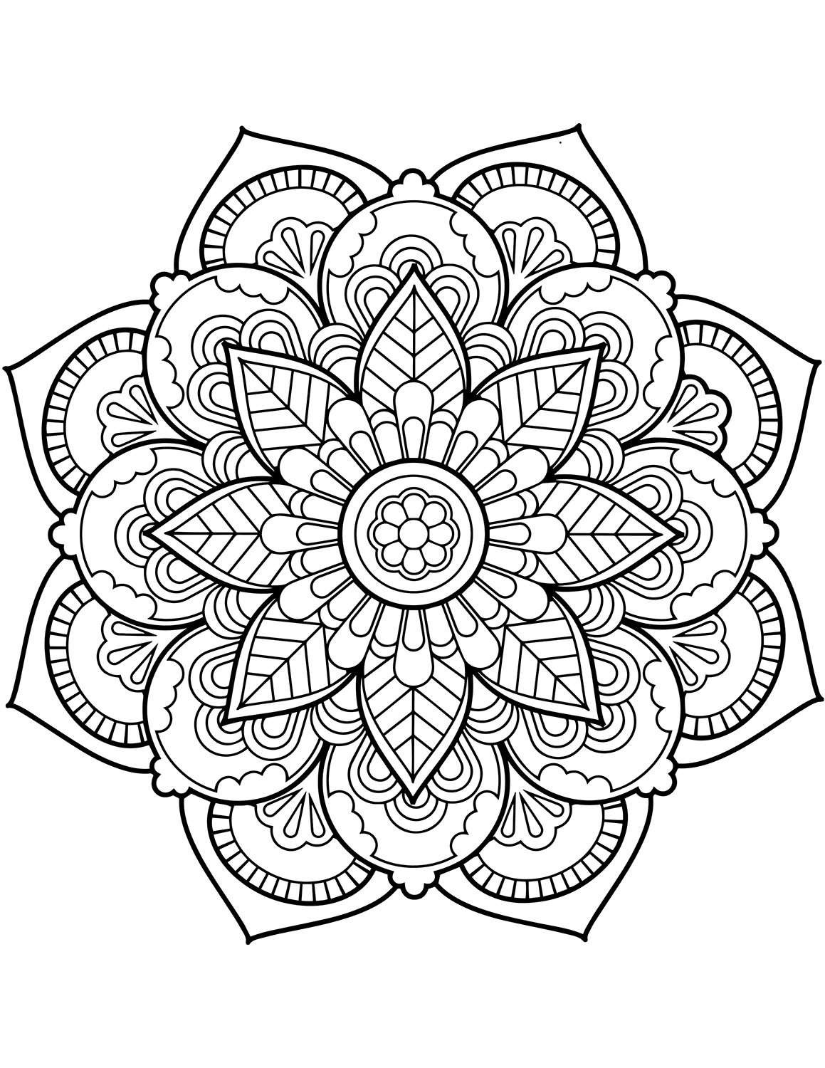 Flower Mandala Coloring Pages