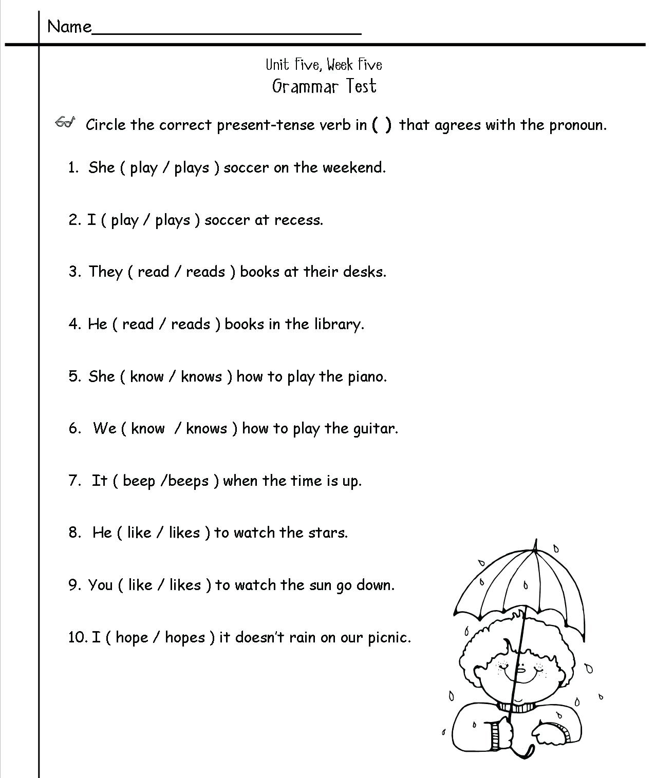 Igcse Worksheet Grade 2 English