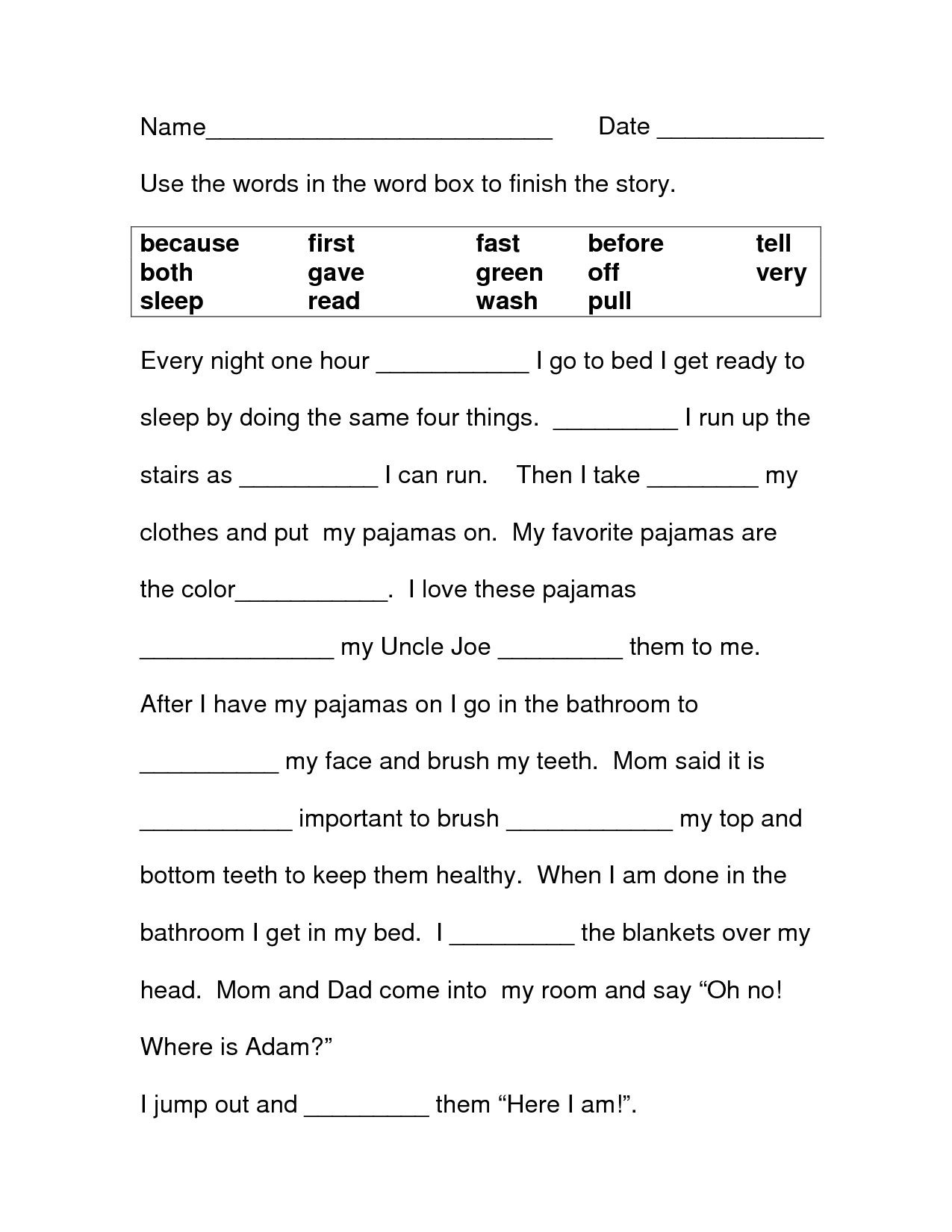 Spanish Worksheet For Third Graders