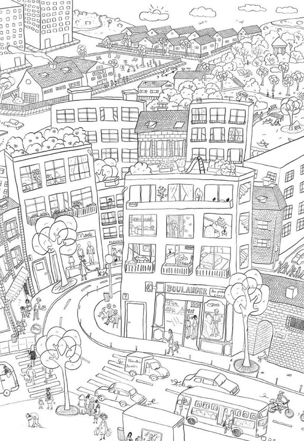 city coloring pages # 0