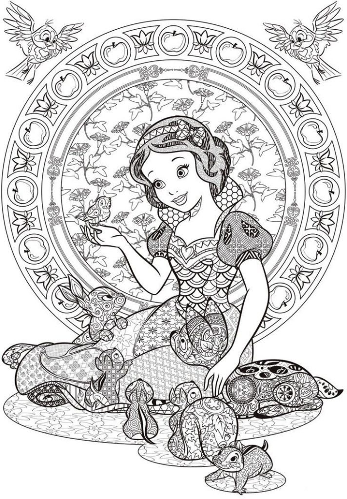 Snow White Disney Coloring Pages for Adults   colouring pages for adults disney