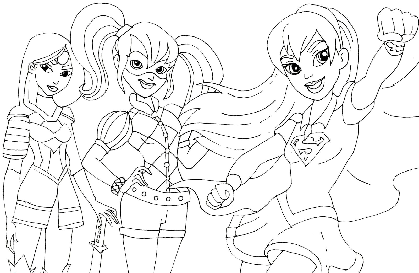 Dc Superhero Girls Coloring Pages Best Coloring Pages For Kids