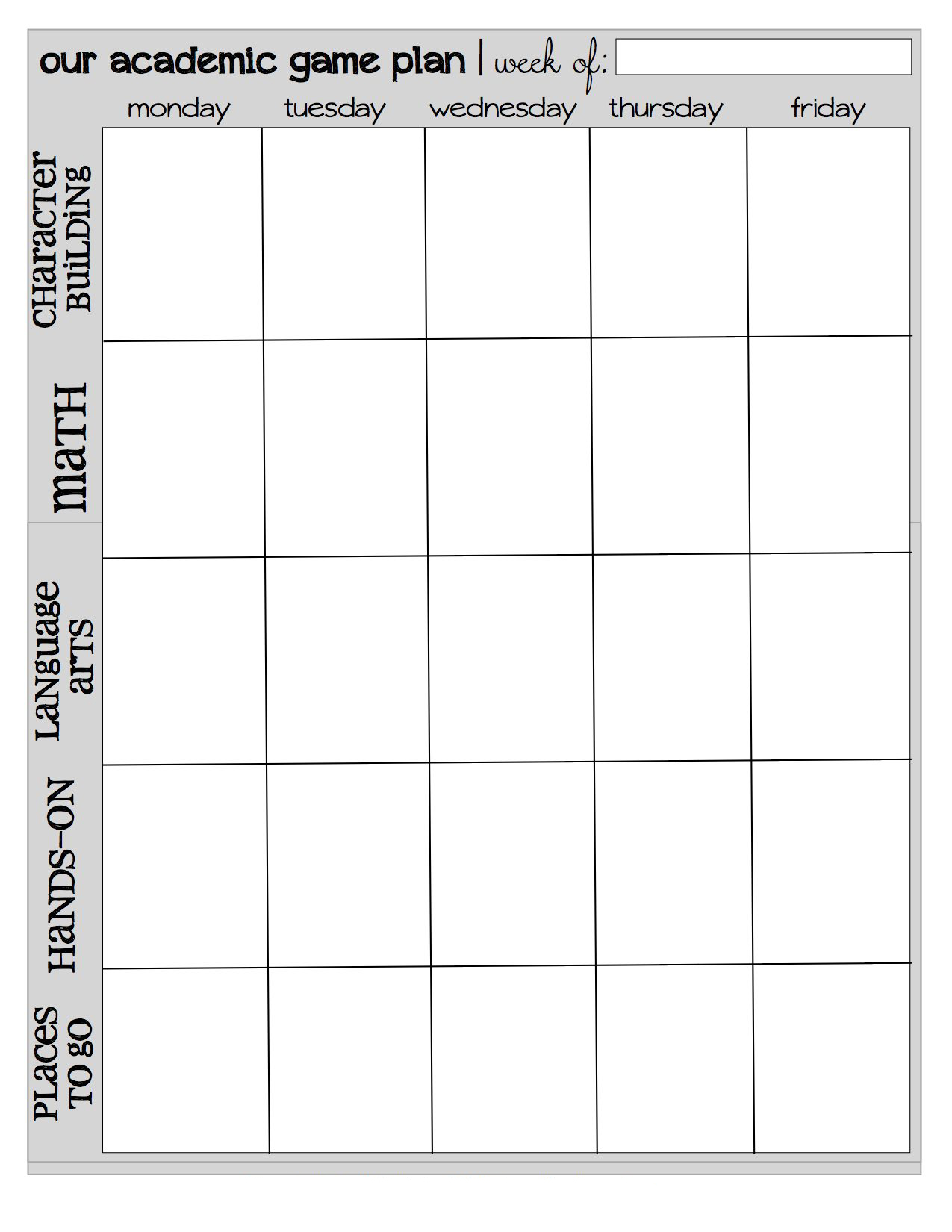 Old Fashioned Homeschool Schedule Printable