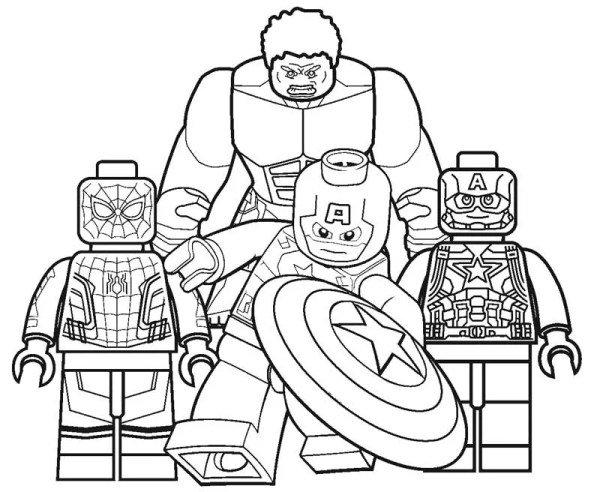 lego avengers coloring pages # 2