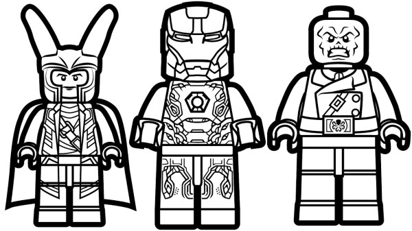 lego marvel superheroes coloring pages # 43