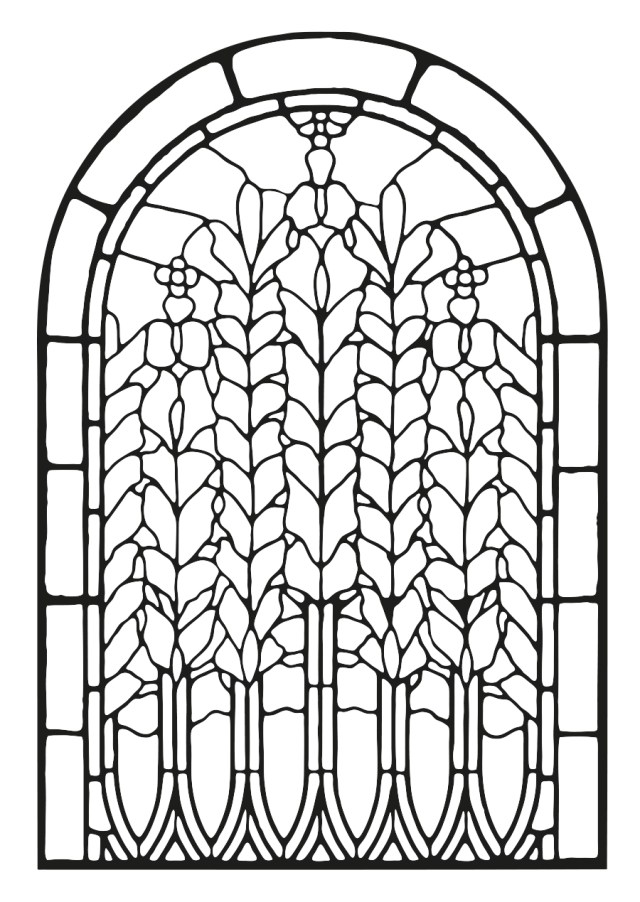 Stained Glass Coloring Pages for Adults - Best Coloring Pages For Kids