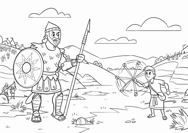 David and Goliath Coloring Pages - Best Coloring Pages For Kids