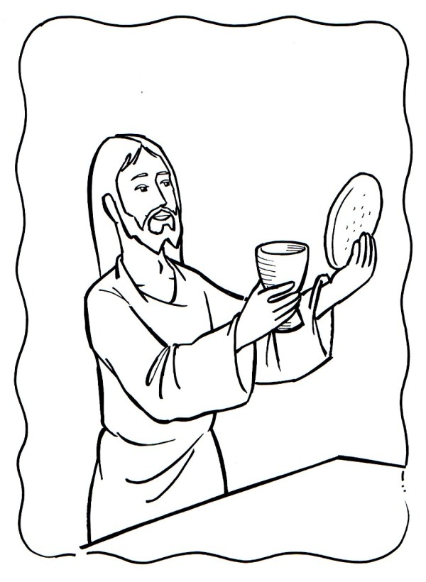 the last supper coloring page # 72