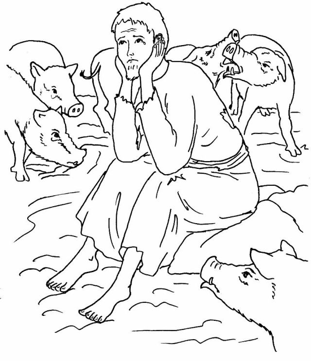 Prodigal Son Coloring Pages - Best Coloring Pages For Kids