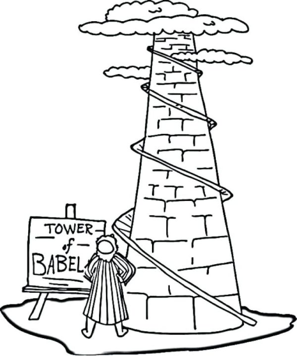 tower of babel coloring pages # 55