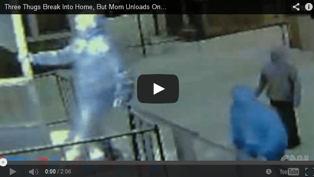 Mom Uses Assault Rifle to Fight Off Three Home Invaders