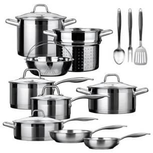 Duxtop SSC-14PC Whole-Clad Tri-Ply Induction Cookware Set