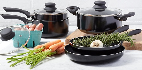 Amazon Basics 8-Piece Nonstick Cookware Set