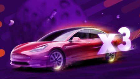 3 Tesla Model 3 giveaways at Bitcasino.io