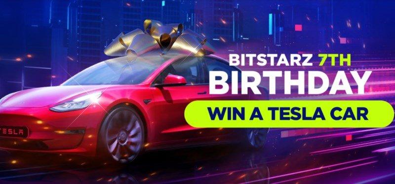 Win a Tesla car on BitStarz's 7th birthday