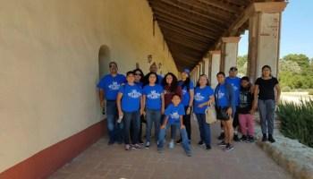 Company employees blue shirt Best Custom Screens mission trip
