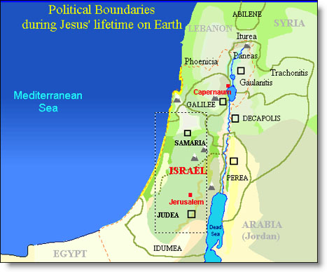 Israel Political Boundaries