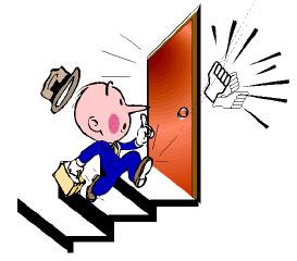 Man at door