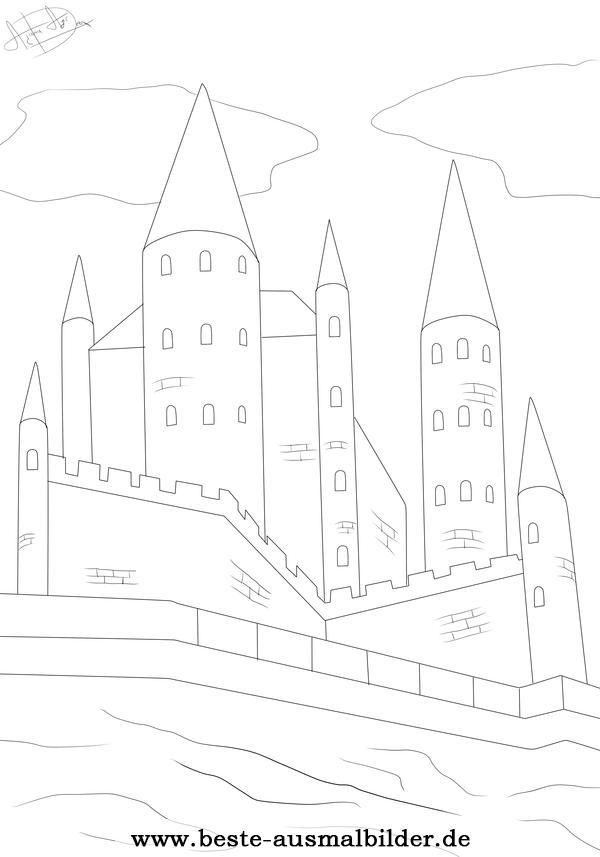 Ritterburg Ausmalbild Kostenlose Ausmalbilder Von Rittern