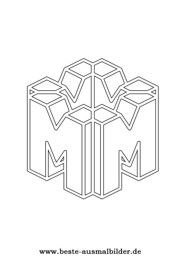 Buchstabe M Ausmalbild Fr Kinder Mit Dem Buchstaben M