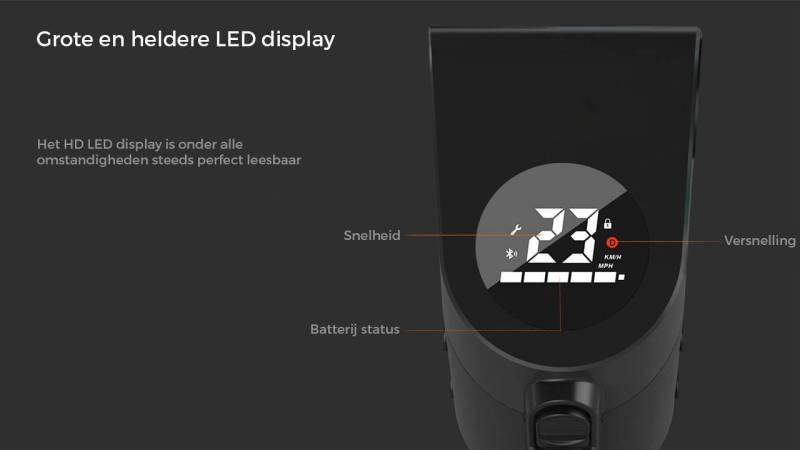 elektrische step x7 display