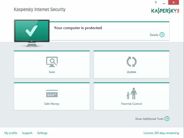 dashboard kaspersky security