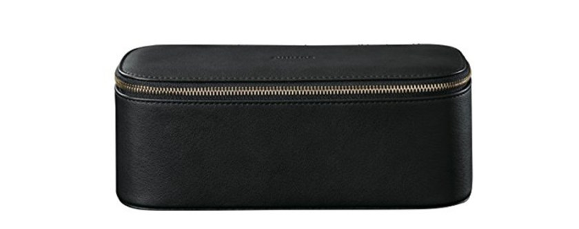 dark leather travel case