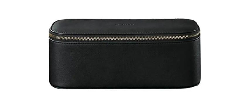 dark leather travel case