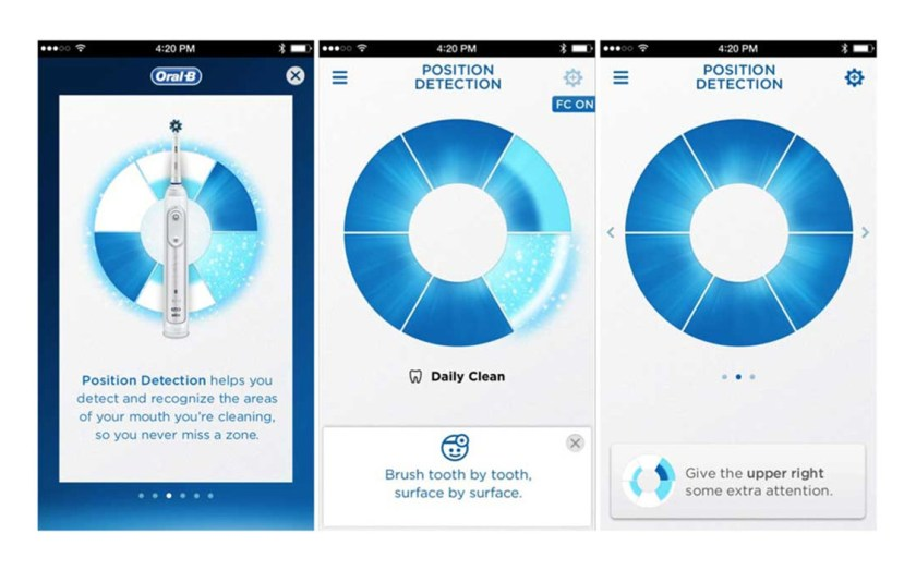Oral-B APP position detection