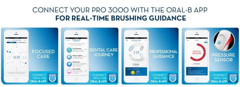 Oral B pro 3000 with Oral-B APP