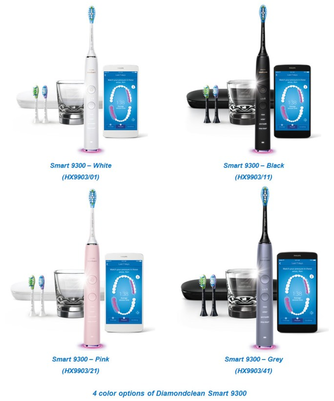 4 color options of diamondclean smart 9300