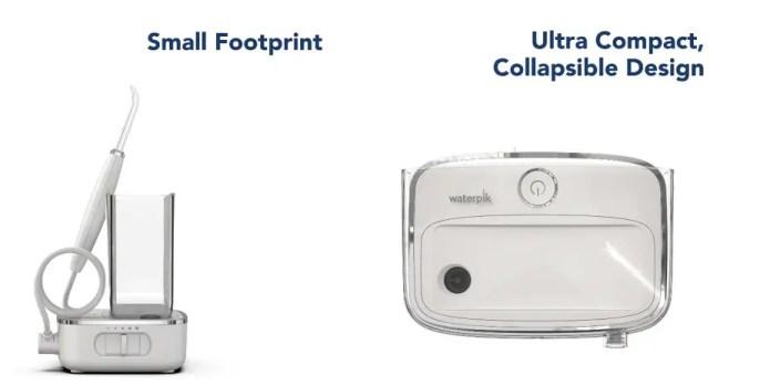 Slim and compact design of Waterpik Sidekick