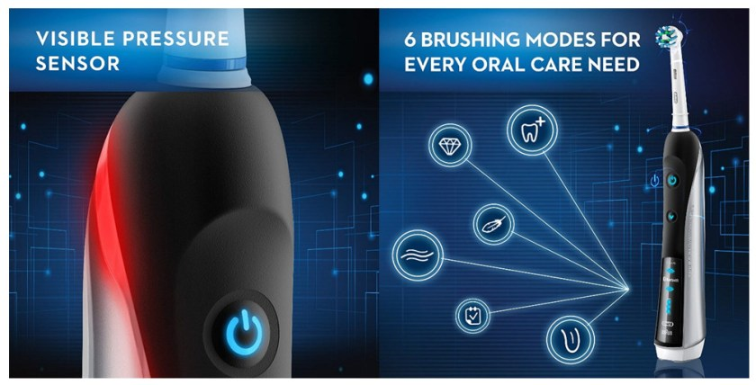 Pressure sensor and 6 brushing modes of Pro 7000