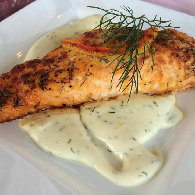 Salmon with Dill Sauce yum!!   besteventscatering yum cateringhellip
