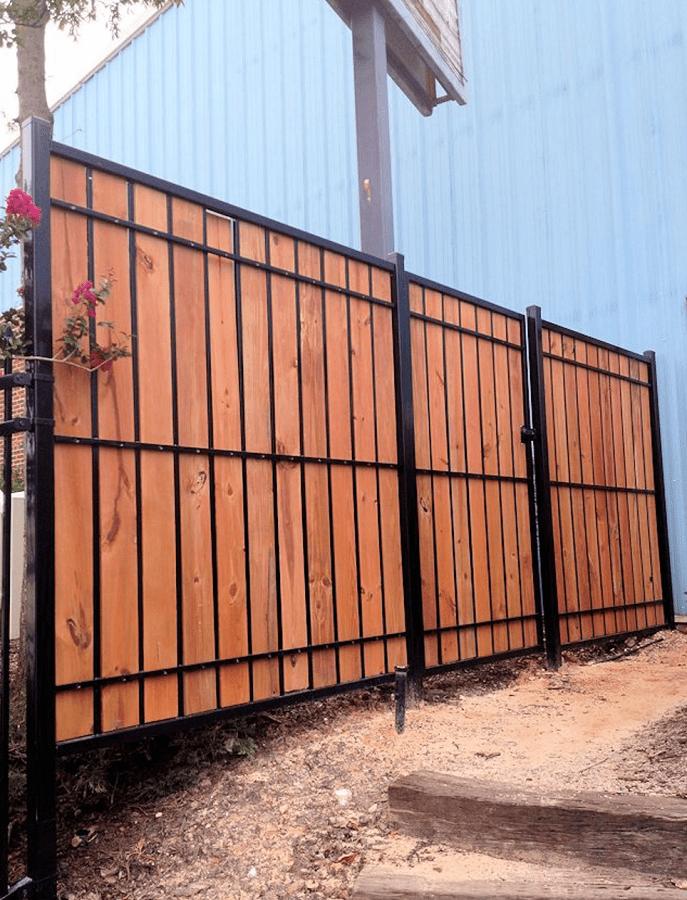 custom wood fence installation in San Antonio