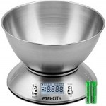 Etekcity Stainless Steel Kitchen Scale with Bowl